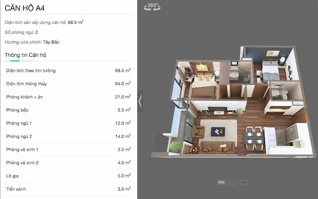 Thiết kế căn hộ A4 chung cư The Legend