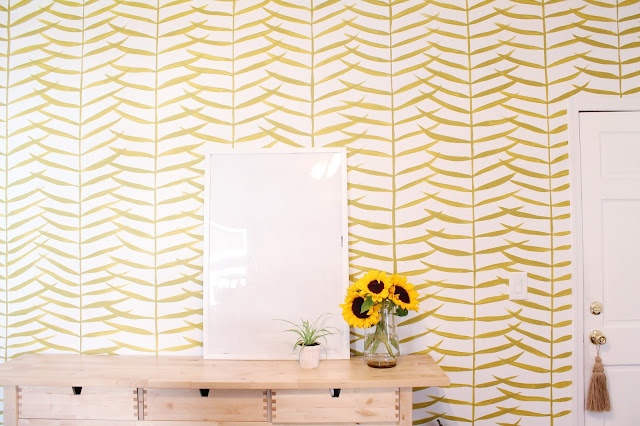 Hand Paint a Pattern Accent Wall in Your Home