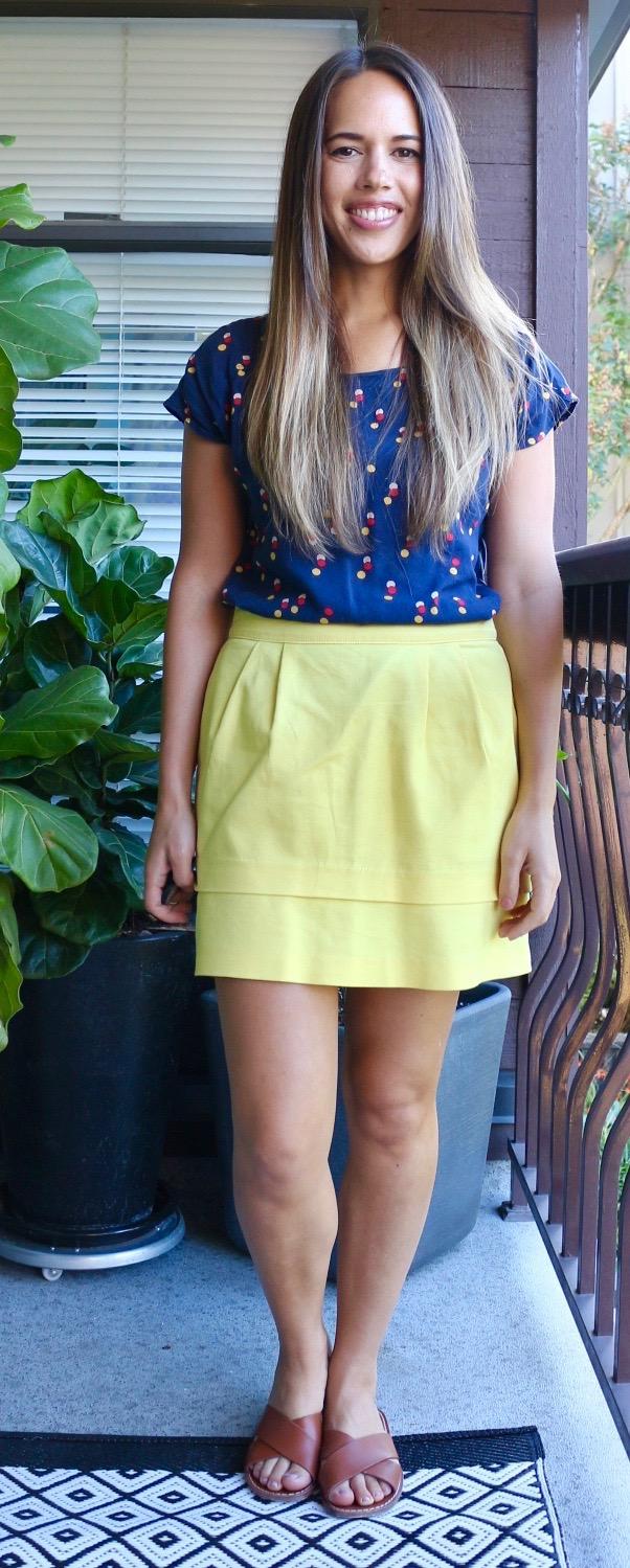 Jules in Flats - Lemon Yellow Mini Skirt for Summer