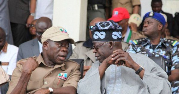 Oshiomhole and Tinubu at the Abeokuta rally