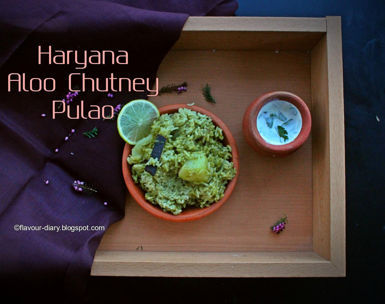 haryana aloo chutney pulao recipe