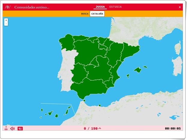 """""""Comunidades Autónomas Españolas"""" (Juego de Ciencias Sociales de Primaria)"""
