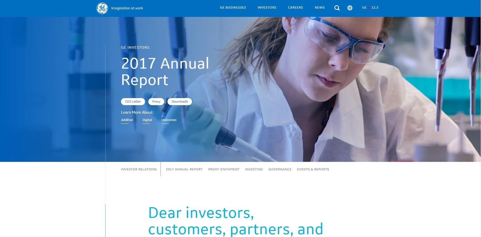 GE annual report
