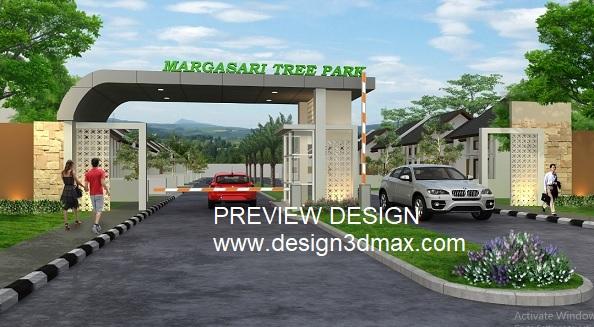 Jasa Desain 3d Interior Gambar Eksterior Jasa Desain Renovasi Gerbang Perumahan