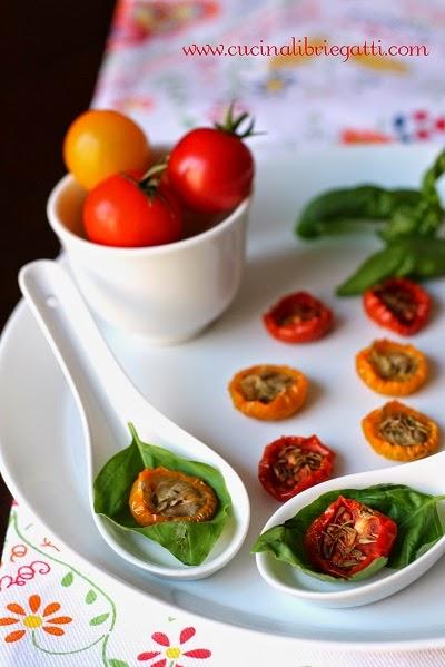 pomodori confit ricetta vegana vegetariana
