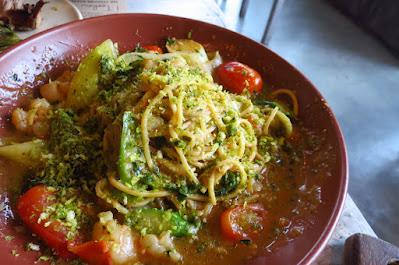 iO Italian Osteria, tagliolini prawns lemon