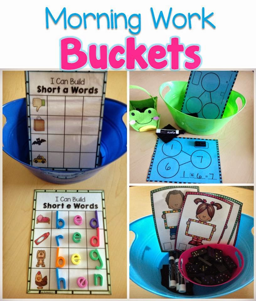 Kinder Tribe: Morning Work Buckets for Kindergarten and 1st