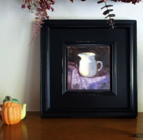 Cynthia Haase Fine Art Floating And Displaying Small Oil Paintings