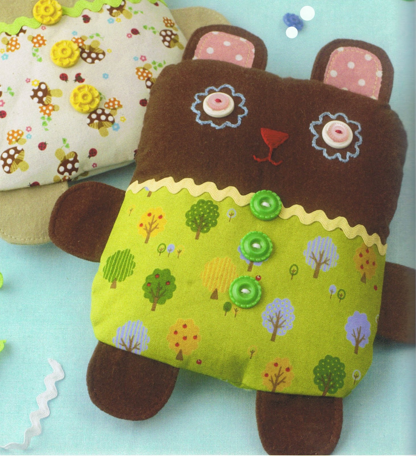 image sew darn cute jenny ryan fabric plushie softie bear book review