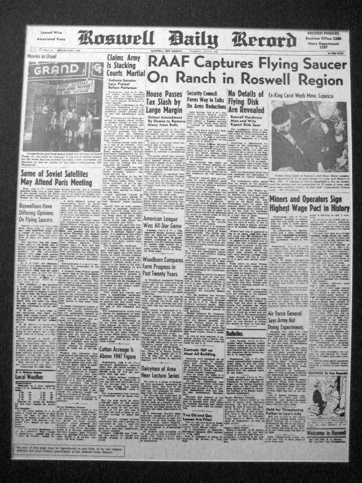 1947 Roswell UFO Incident