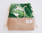 canvas nautical tote bag