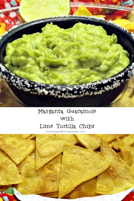 Margarita Guacamole and Lime Tortilla Chips - Home Sweet Homestead