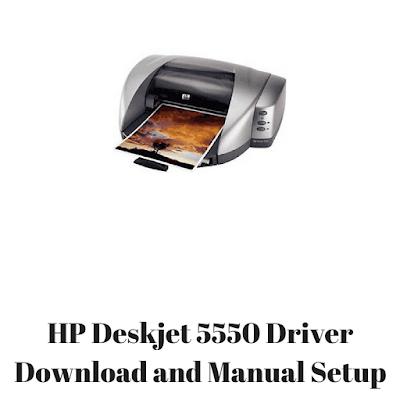 HP Deskjet 5550 Driver Download and Manual Setup