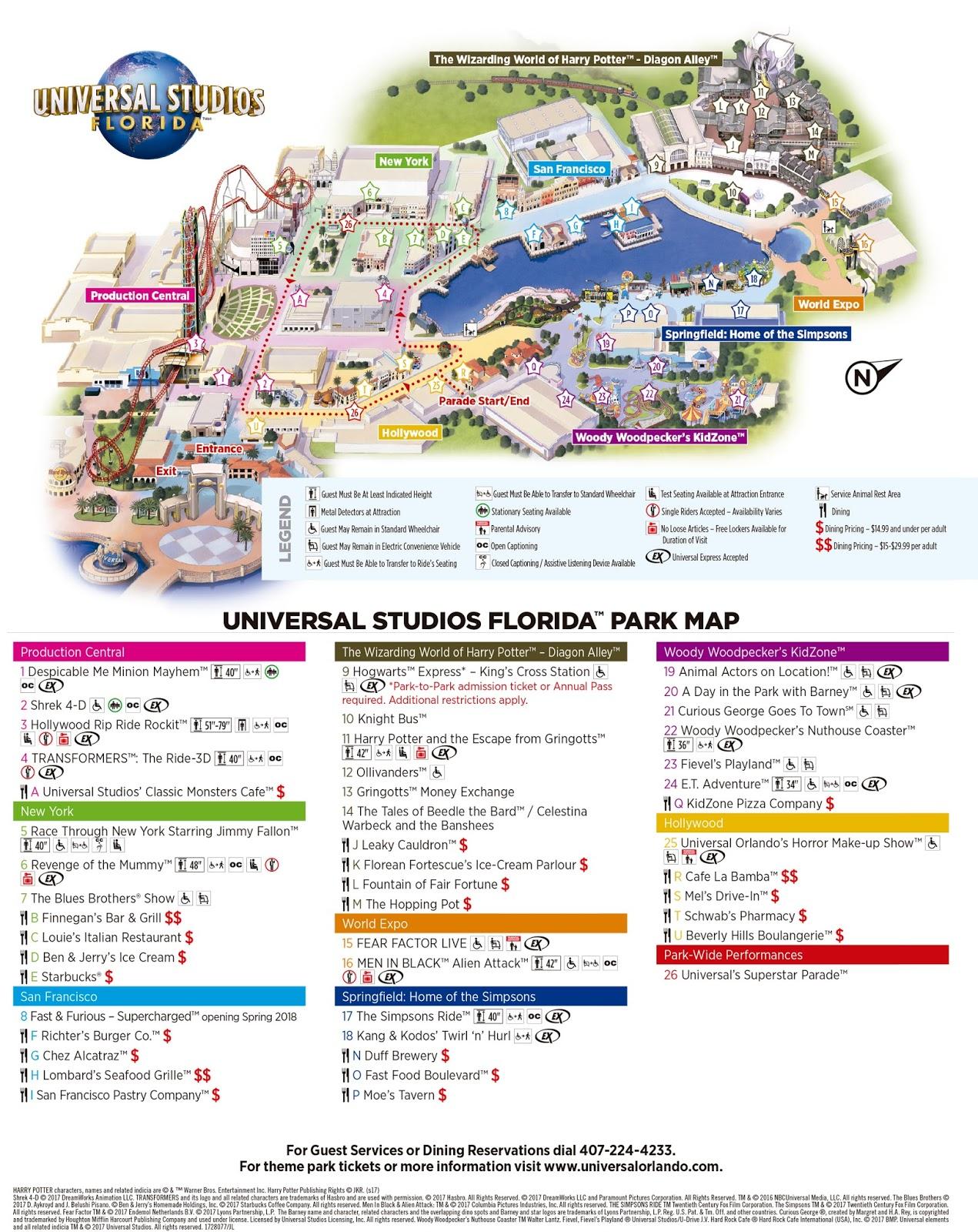Mapa Universal Studios Florida