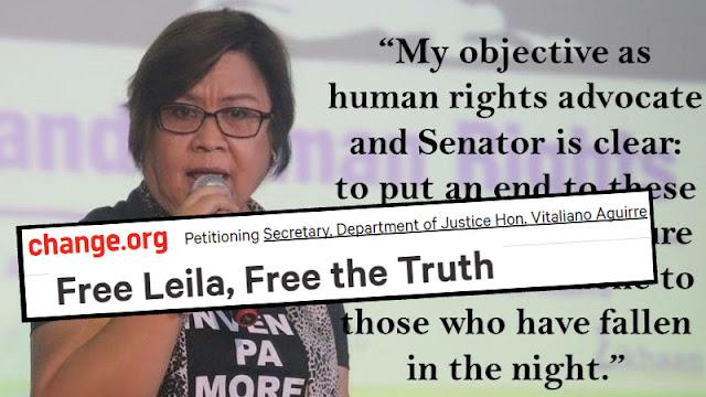 Kababaihan para sa Katotohanan at Katarungan started petition to Free Leila