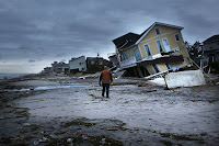 The major cities of the U.S. Northeast may have to bear the brunt of more hurricanes like Superstorm Sandy, which devastated New York and New Jersey. (Credit: Getty Images) Click to Enlarge.