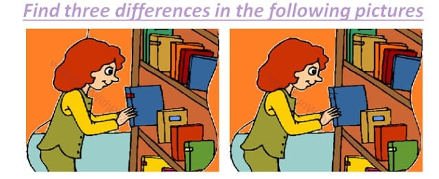 Picture Puzzles in which your challenge is to Find the differences in Puzzle Images