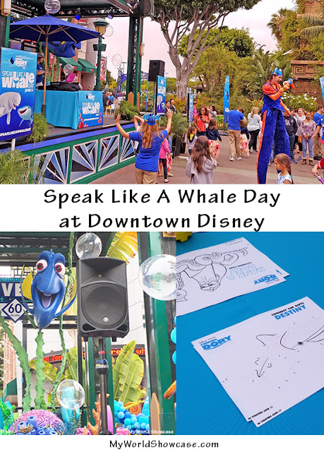 Finding Dory and Speak Like a Whale Day at Downtown Disney