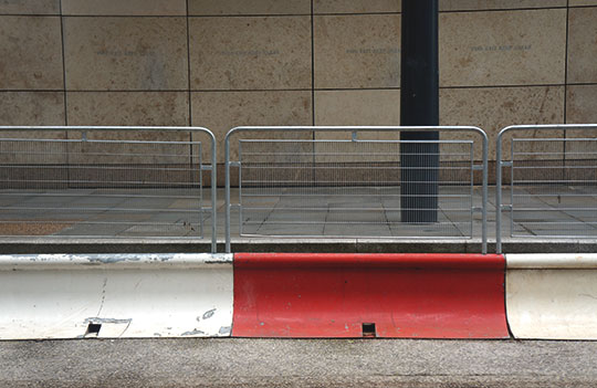 urban photography, city scene, urban photo, minimal, art, contemporary, barriers, concrete, Sam Freek,