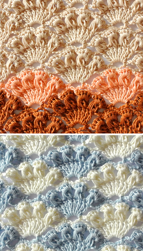 Crochet Shell Stitch - Free Pattern