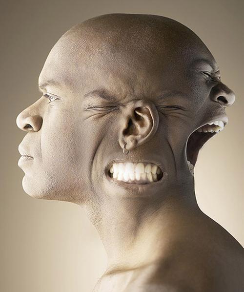 efek manipulasi 3 wajah