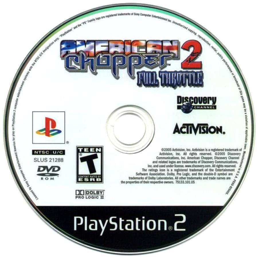 Capa Label American Chopper 2: Full Throttle PS2