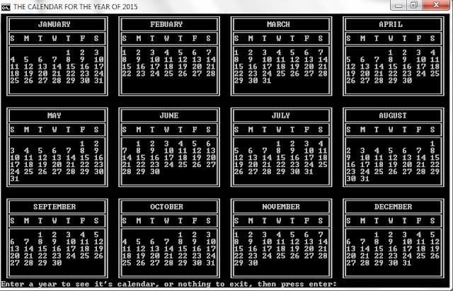 The Calendar Program | By Judago