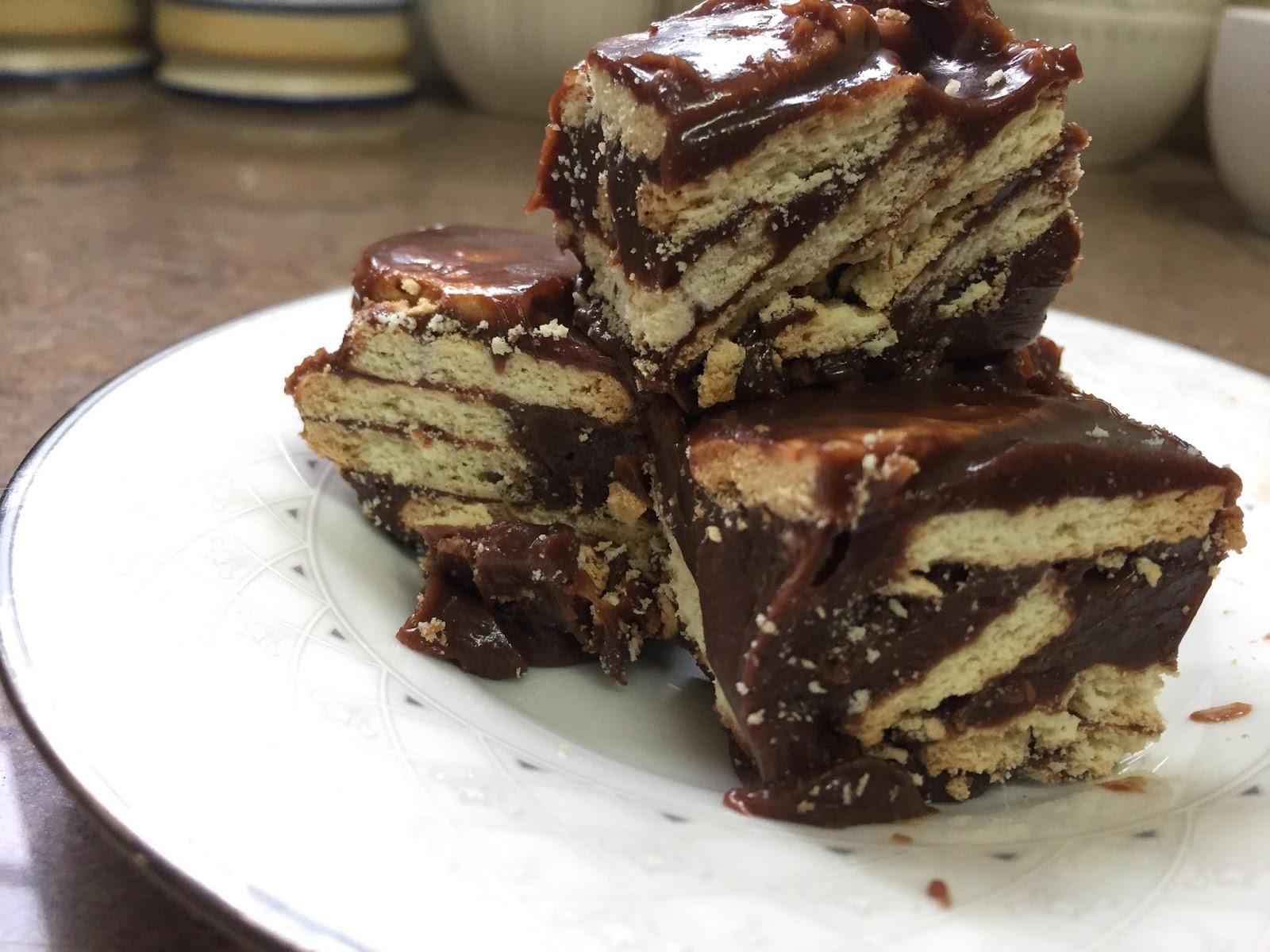 kek mudah disediakan, kek 4 bahan, kek batik sedap, resepi kek mudah