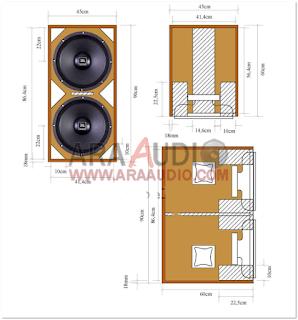 Skema Box Subwoofer Bass Reflex Martin MS215