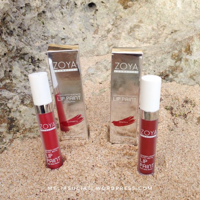 Zoya Cosmetics Metallic Lip Paint Elizabeth dan Beatrix (Review and Swatches)