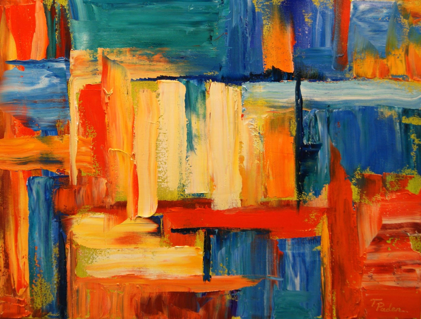 Daily Painters Abstract Gallery: Colorful Abstract Oil ...