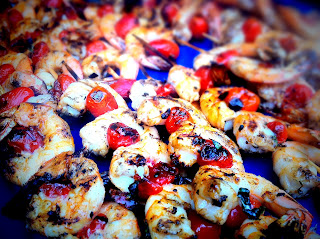 Shrimp and Tomato Skewers