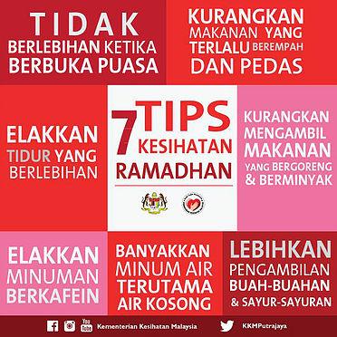 7 Tips Kesihatan Ramadhan
