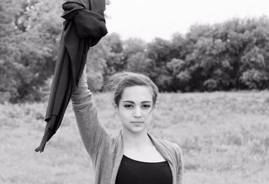 "Iranian Women Are Posting Pics With Their Hair Flying Free In Protest Of Strict Hijab Laws - ""My Stealthy Freedom"""