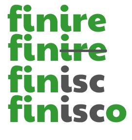 finire-> fin -> finisc -> finisco How to conjugate -IRE verbs that take -ISC- by ab for viaoptimae.com