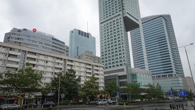 Walking around the Warsaw Towers