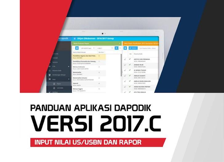 Panduan Instal Aplikasi Dapodik 2017c Untuk Input Nilai US/USBN dan Rapor