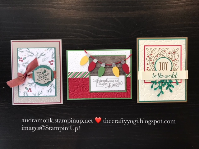 The crafty yogi ics blog hop passion for punches christmas cards three cards and not a die in sight lets take a closer look m4hsunfo