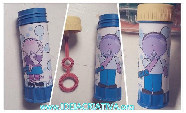Bolha de Sabão com rótulo personalizado para o Dia das Crianças