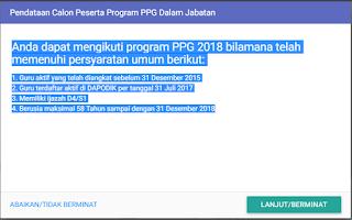 Pendataan Calon Peserta Program PPG Dalam Jabatan