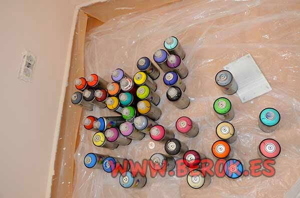 Sprays de graffiti montana colors con base al agua