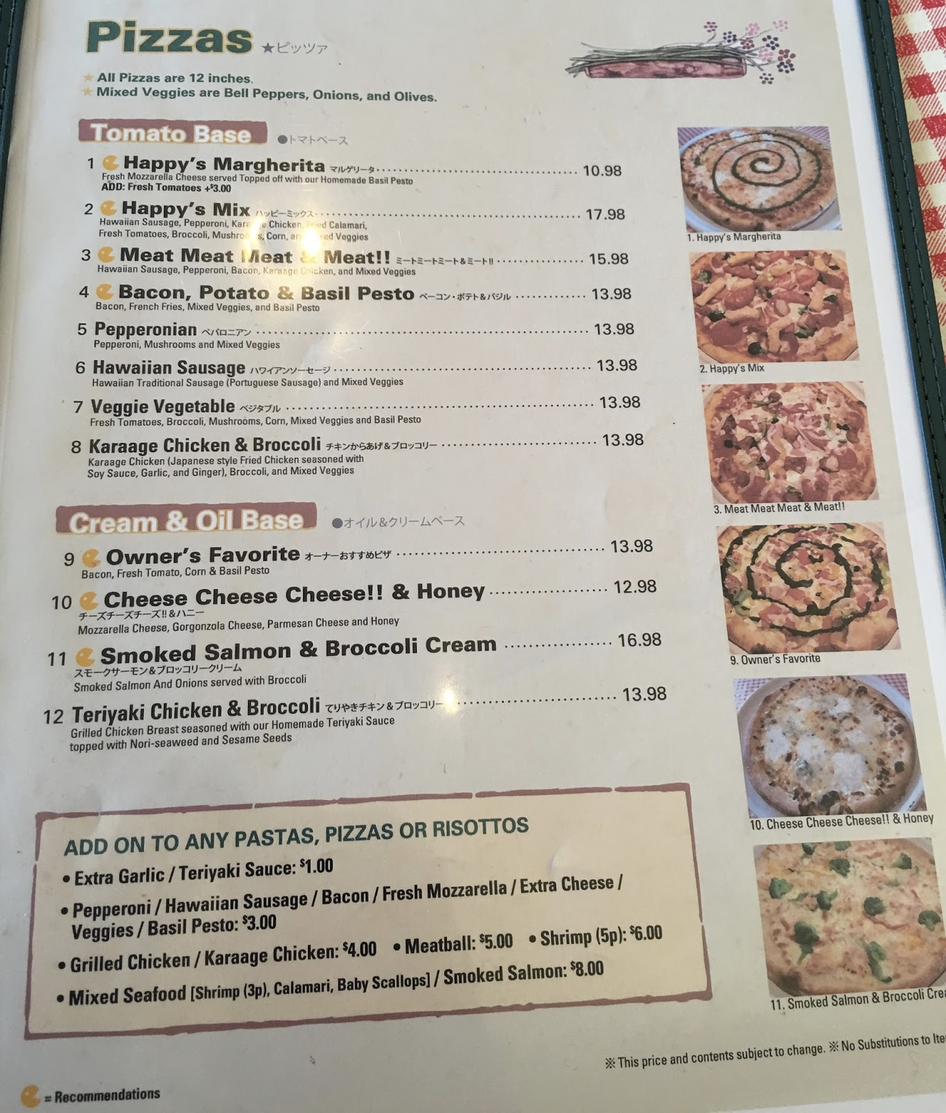 Prego Cucina Italiana Menu Taste Of Hawaii Happy Valley Pasta And Pizza