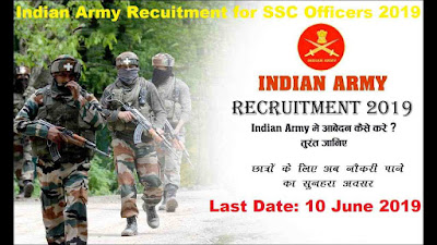 Indian Army Recruitment for SSC Officers 2019