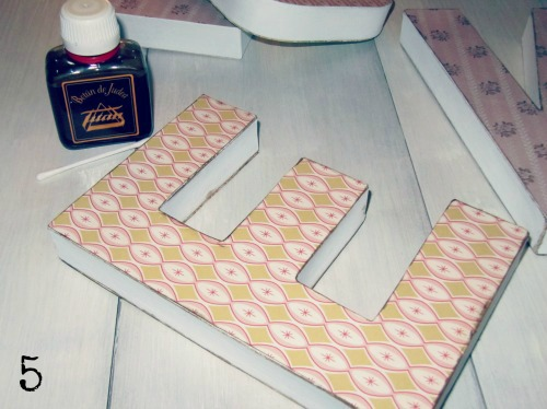 Paso a paso DIY decorar letras kraft