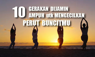 10 gerakan yoga untuk mengecilkan perut buncit.