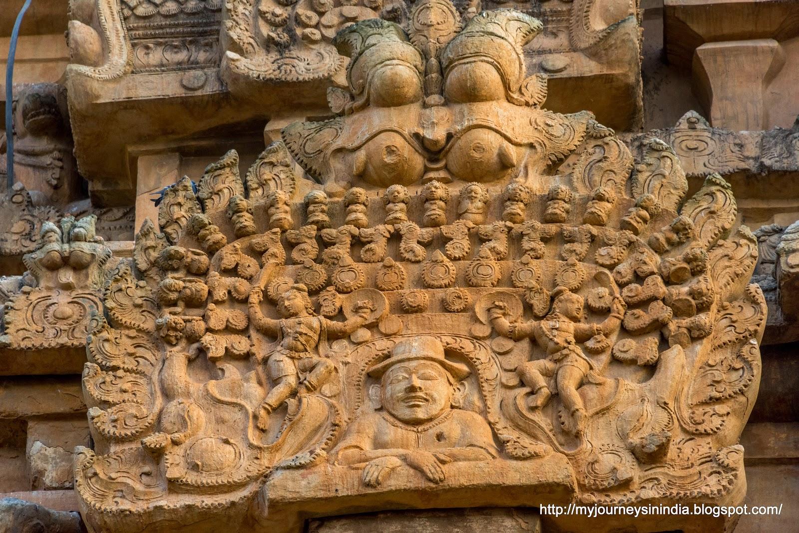 Thanjavur Brihadeeswarar Temple Tower sculptures