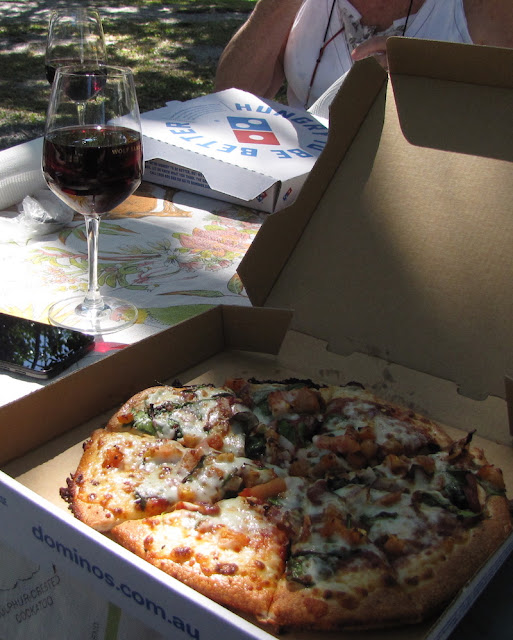 Pizza in the park - Macrossan Street