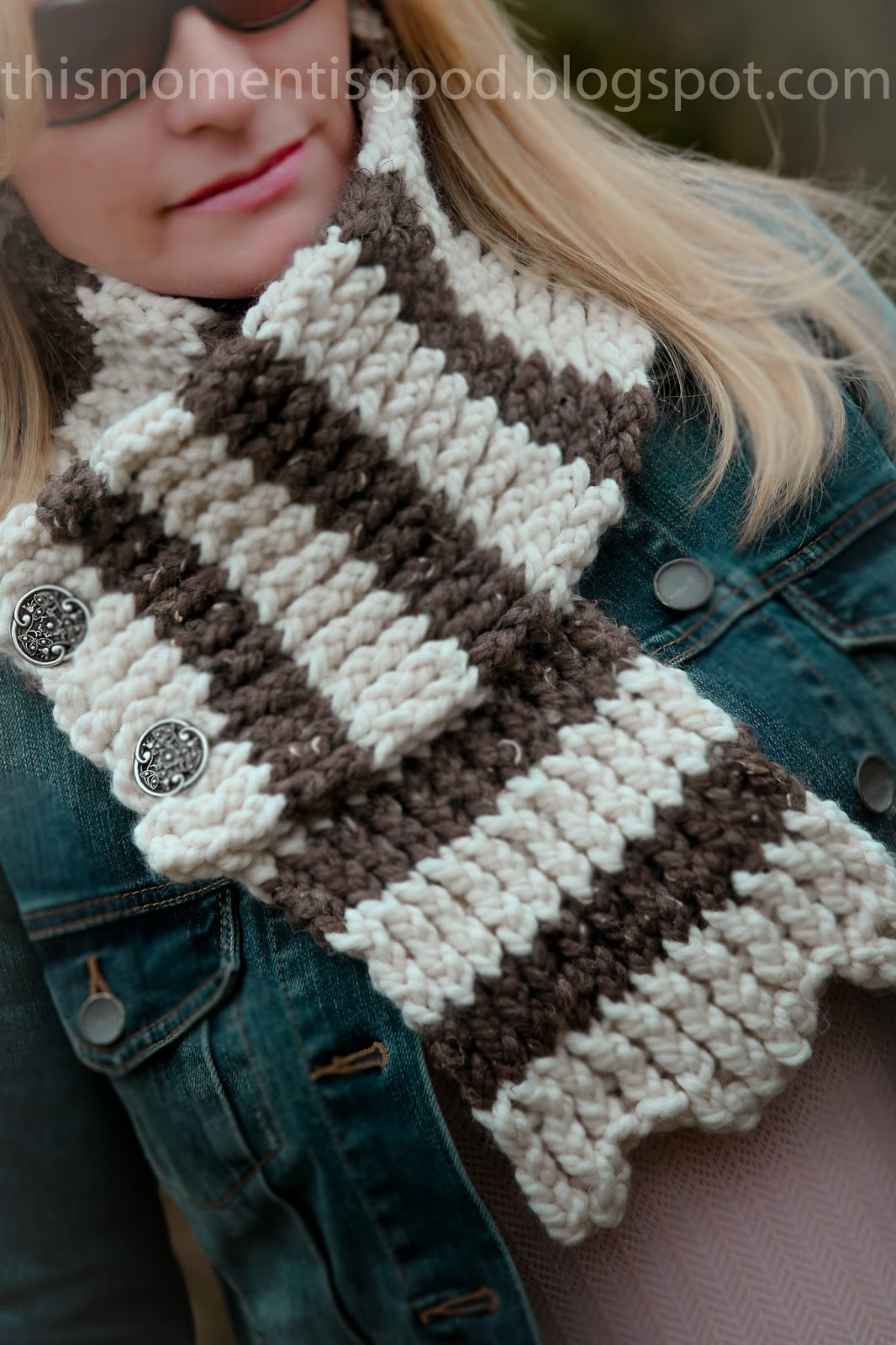 LOOM KNIT SCALLOPED SCARF | Loom Knitting by This Moment ...