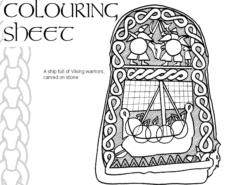 Ausmalbild, Wikinger, Coloring Sheet, Vikings, Homeschool Blog, Bernice und Jan Zieba