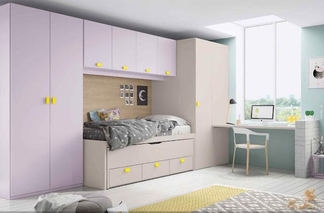 habitaciones juveniles en colores tierra